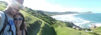 las vistas de las playas... Praia do Rosa