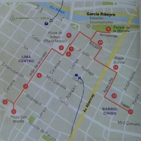visitar Lima plano para hacer una caminata por el centro de la ciudad