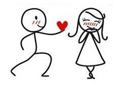 monigotes enamorados, te entrego mi corazón